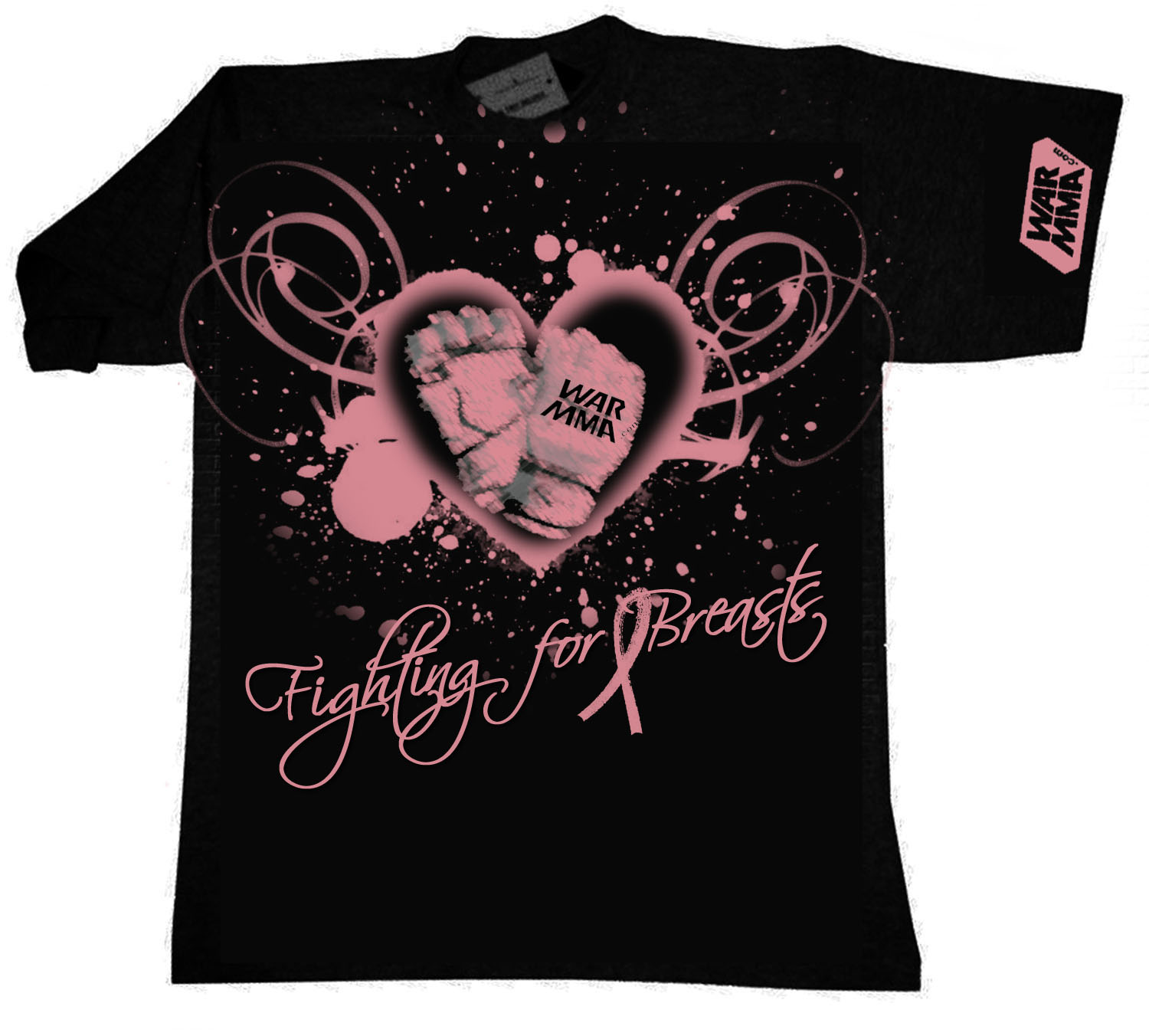 fighting for breasts men's tee